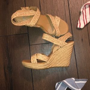 DV whicker strappy wedges